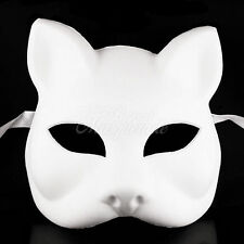 Blank Gatto Cat Venetian Cosplay ANBU Costume Party DIY Mask W7340 [White]