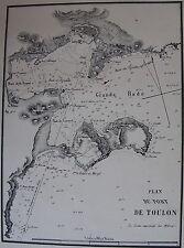 PLAN DU PORT DE TOULON ,1862, GAUTTIER, PLANS PORTS RADES MER MEDITERRANEE