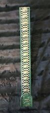"Christmas Wreath Door Hanger Hook Metal 15"" Green Gold"