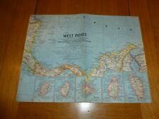 WEST INDIES - National Gegraphic MAP - ATLAS PLATE 23 - Dec 1962