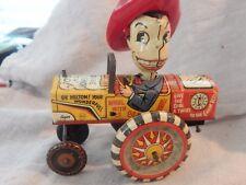 Vintage Marx Milton Berle Wind-up Tin Toy Car
