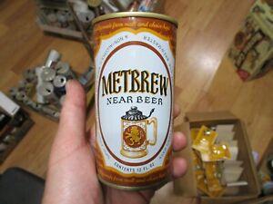 Metbrew Near Beer 12 Oz SS Pull Tab Beer Can Metropolis Trenton, NJ. 93/2