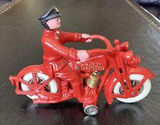 1929 Model JD Harley Davidson Cast Iron Motorcycle Toy #1178 Of 1500