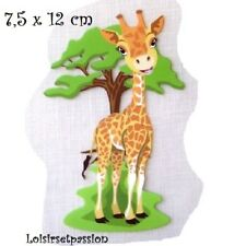 Patch Applique, Dessin Transfert, ANIMAL GIRAFE, 7,5 x 12 cm, sérigraphie - T074