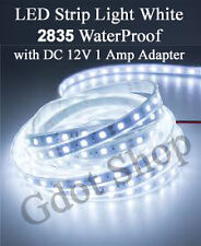LED Strip light 2835 waterproof pure White DC 12V with 2 Amp adapter