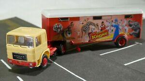 ROMAN Diesel  Sattelzug  Kofferauflieger Zirkus KRONE  DDR 1:87 / H0 ohne OVP
