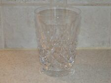 """TUDOR CRYSTAL ENGLAND BURLEIGH PATTERN 4 3/8"""" DOUBLE OLD FASHIONED TUMBLER"""
