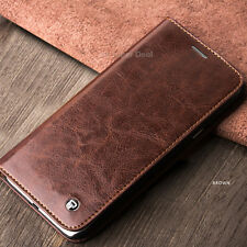 Apple iPhone 8 Plus Case Leather Bags Covers Real Accessory Brown
