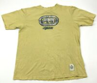 VINTAGE Ecko Unltd Shirt Men's Size Large L Yellow Short Sleeve 3D Rhino Tee