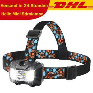 Mini-Scheinwerfer 3 LED Superheller Touch-Schalter bequemes Stirnband 3AAA DHL