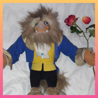 "Rare Disney 14"" Vintage 1992 Beauty and the Beast Doll Toy Stuffed Plush Mattel"