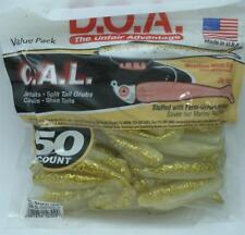 "DOA 10-309 Cal Shad Lure 50CT 3"" Color 309 Glow Gold Rush 21371"