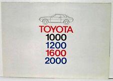1975 Toyota Full Line Passenger Cars Sales Folder Poster for German Market