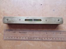 VINTAGE PARRY & BOTT BIRMINGHAM 8 INCH BRASS AND HARDWOOD SPIRIT LEVEL.