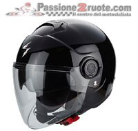 Helmet Exo City black casque jet helm motorcycle motorrad maxi scooter