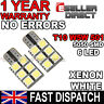2X Error Free Canbus T10 501 W5W 5050 LED 6 SMD White Car Side Number Light Bulb