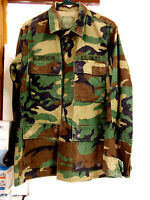 Military Surplus Long Sleeve Shirt Jackets with Army Patches