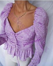 Zara Mauve Purple Blouse Top L Large 12 New Lilac