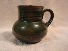 Vintage Oaxaca Mug Mexican Pottery Green Brown