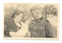 Foto, Soldat, Uniform, Frau, Kind