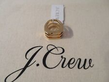 NEW J.CREW  GEOMETRIC RING, SIZE 5 AND 7, GOLD