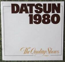 DATSUN CAR RANGE SALES BROCHURE 1980 (USA PRINT - LARGE FORMAT) REF- 900M-1