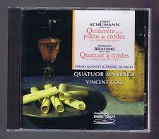 SCHUMANN BRAHMS CD QUINTETTE OP 44/ QUATUOR OP 57/ QUATUOR MANFRED/ V.COQ
