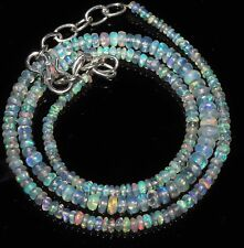 """30 Carat 16"""" 2 to 4.5 mm Natural Ethiopian Welo Fire Opal Beads Necklace -EB190"""
