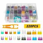 220pcs Car Truck Auto Blade Fuse Automobile Assortment Kit Box Set for Vehicles  for sale