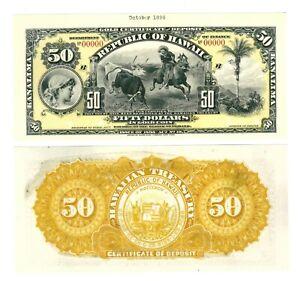 - Paper Reproduction - Hawaii 50 dollars 1895     647