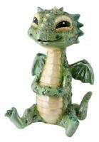 Spotted Green Baby Dragon Fantasy Figurine Statuette Fairy Tale Decoration New