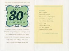 Hallmark 30th Anniversary Card From Friend/Family--Love Held You Together