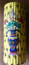 Yellow Glazed Bamboo Pattern Famille Rose Porcelain Vase with Tongzhi Mark