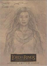 "Lord of the Rings Masterpieces - David Rabbitte ""Arwen"" Sketch Card"