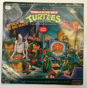 Teenage Mutant Ninja Turtles Double Feature Laser Disc Attack of Big Macc / Pizz