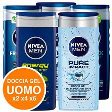 Nivea Doccia Shampoo Gel Uomo For Men Rinfrescante Corpo e Capelli a Scelta