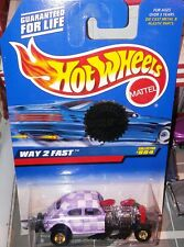 Volkswagen VW bug way-2 fast 1of only 1 Hot Wheel custom checkerboard purple