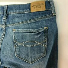 Ambercrombie & Fitch Emma Bootcut Women's Jeans Stretch Size 2S Medium Wash Fade
