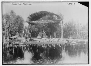 Scene,Hiawatha,costumes,productions,teepee,Native Americans,Bain News Serv 5647