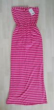 STRAPLESS MAXI DRESS size 8 pink NEXT stripes HOLIDAY white SUMMER