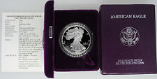 1993 P Proof American Silver Eagle Silver Dollar Coin Complete With Box & COA
