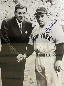 Yogi Berra Autographed with Babe Ruth 11X14 Photo Steiner