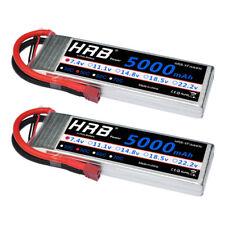 2pcs HRB 7.4V 5000mAh 2S LiPo Battery 50C-100C Deans Plug for RC Heli Car Drone