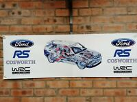 Ford Escort RS Cosworth turb rally wrc large pvc  WORK SHOP BANNER garage