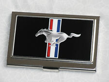 Ford Mustang business card holder with pony tribar logo - great gift!