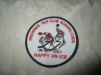 """Berliner SC Preussen Aufnäher """"PREUSSEN FAN CLUB BOMMELCHEN HAPPY ON ICE"""" TOP"""