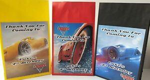 Disney Cars Lightning McQueen, Cruz & Storm Personalised Birthday Party Bags