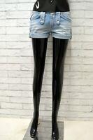 Pantaloncino REPLAY Donna Taglia 26 Pantalone Corto Shorts Bermuda Cotone Blu