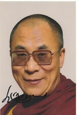 DALAI LAMA INSPIRING WORLD BUDDHIST LEADER RARE SIGNED PHOTO COA