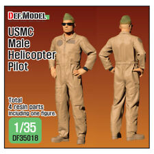 1/35 scale USMC Male Helicopter Pilot standing